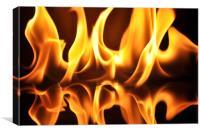 Fire flames, Canvas Print
