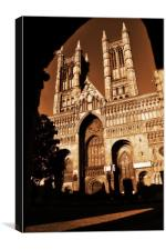 Lincoln Catherdral, Canvas Print