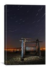 Clachnaharry star trails, Canvas Print