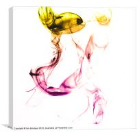 Colourful Smoke, Canvas Print