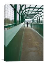 Railway Footbridge, Canvas Print