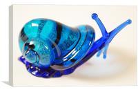Blue Glass Snail, Canvas Print