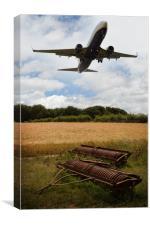 Plane Over Cornfield, Canvas Print