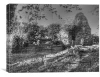 Magheradrool Old Church and Graveyard, Canvas Print