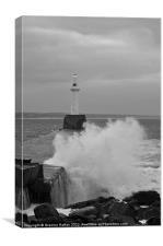 Aberdeen Crashing Waves, Canvas Print