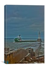 Enea Escaping the Stormy North Sea, Canvas Print