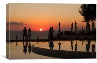 Sunset in Corfu, Canvas Print