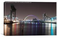 Clyde Arc, Glasgow, Canvas Print