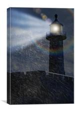 Twas on a Stormy Night, Canvas Print