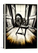 The Spinning Wheel, Canvas Print