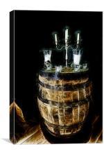 Barrel Table, Canvas Print