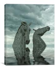 Kelpies Globalwarmed, Canvas Print