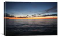 Windfarm Sunset, Canvas Print