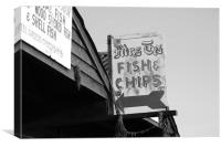 Mrs T's Fish & Chips, Canvas Print