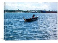 Boat Trip, Canvas Print