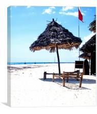 Beach Hut., Canvas Print