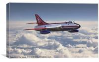 Hawker Hunter, Canvas Print