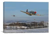 Yak9 - the Russians are coming!, Canvas Print
