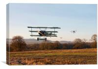 Fokker Dr1 Triplane - Days End, Canvas Print