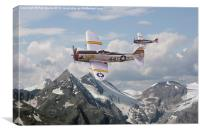 P47 Thunderbolt - 57th FG, Canvas Print