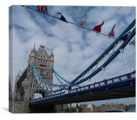 Tower Bridge Jubilee Weekend, Canvas Print