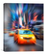 New York Yellow Taxi, Canvas Print