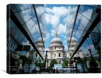 St Pauls Reflection, Canvas Print