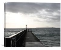 Bowleaze Cove Pier, Canvas Print