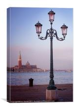 Venice Street Lamp, Canvas Print