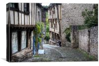 Dinan, Brittany, France, Canvas Print