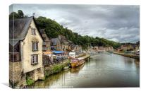 Dinan Port, Brittany, France, Canvas Print