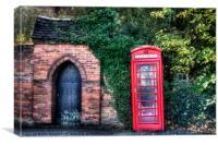 The Telephone Box, Canvas Print