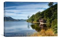 The Boat House, Pooley Bridge, Ullswater, Canvas Print