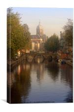Amsterdam Church, Canvas Print