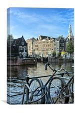 Amsterdam Bicycles, Canvas Print
