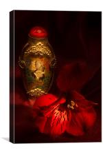 Oriental Snuff Bottle and Alstroemeria, Canvas Print