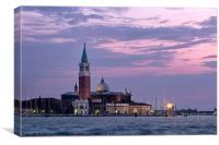Evening Light - Church of San Giorgio Maggiore., Canvas Print
