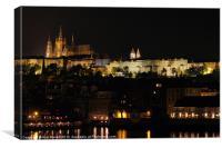 Prague at Night, Canvas Print