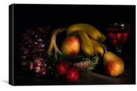 Fruit Still Life With Wine, Canvas Print
