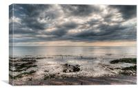 The Beach at Birling Gap, Eastbourne, England, Canvas Print
