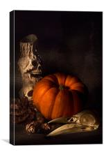 Halloween Still Life, Canvas Print