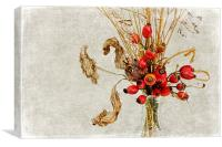Rosehips and Grasses, Canvas Print
