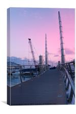 The Millennium Bridge, Torquay, Canvas Print