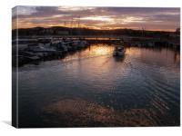 Torquay Marina, Canvas Print