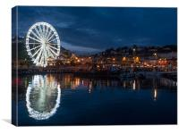The Big Wheel overlooking Torquay Harbour, Canvas Print