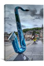 Saxophone Bridge, Dinant, Belgium, Canvas Print