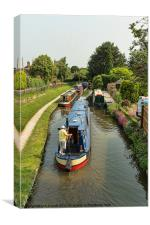 The Trent and Mersey Canal at Alrewas, Canvas Print