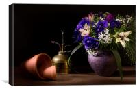 A Vase of Anemones, Canvas Print
