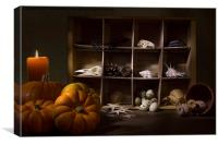 Halloween Collection With Candle, Canvas Print