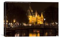 The Waag at Night  Amsterdam, Canvas Print